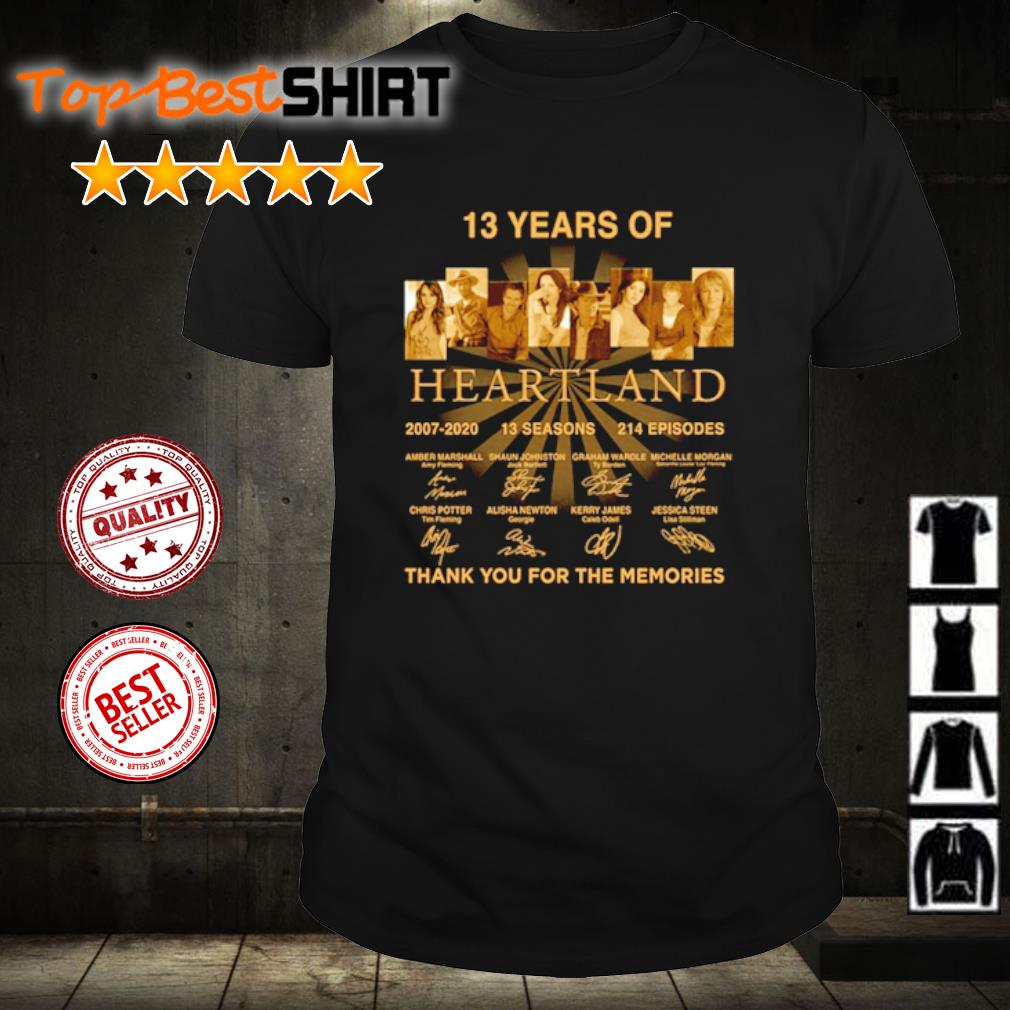 13 years of Heartland thank you for the memories shirt