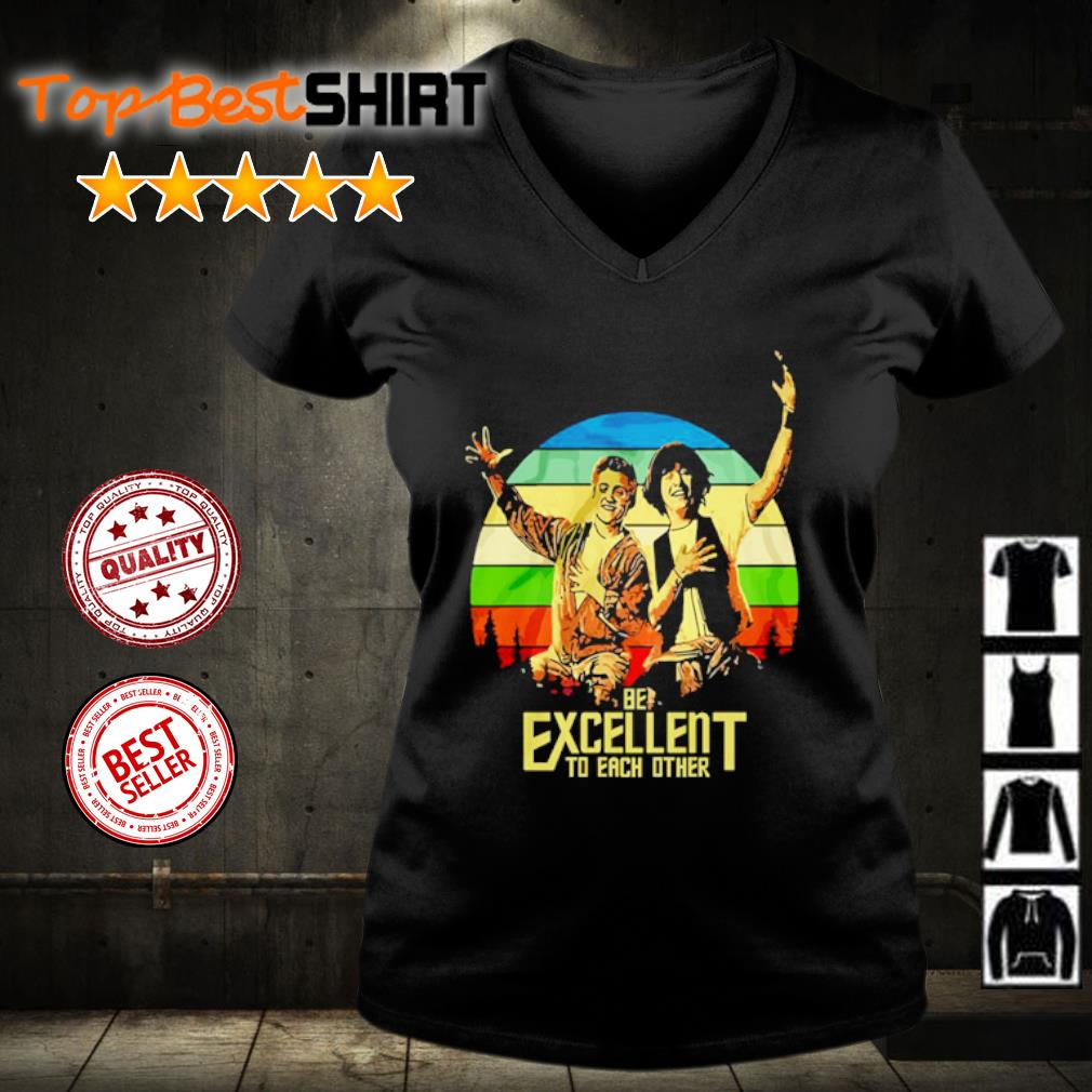 Bill and Ted be excellent to each other vintage s v-neck-t-shirt