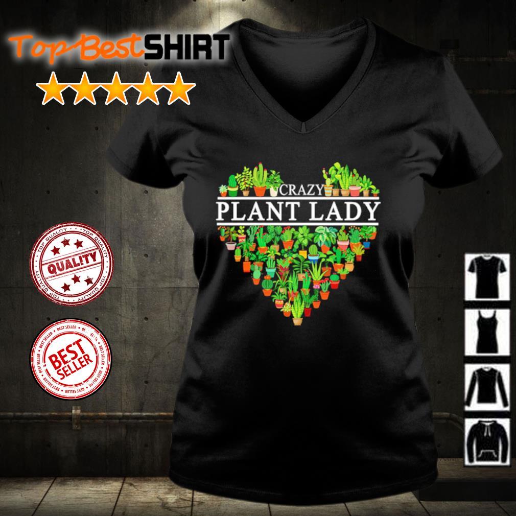 Crazy plant lady s v-neck-t-shirt