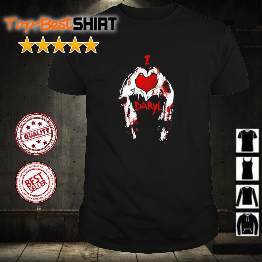 Heart I love Daryl blood shirt