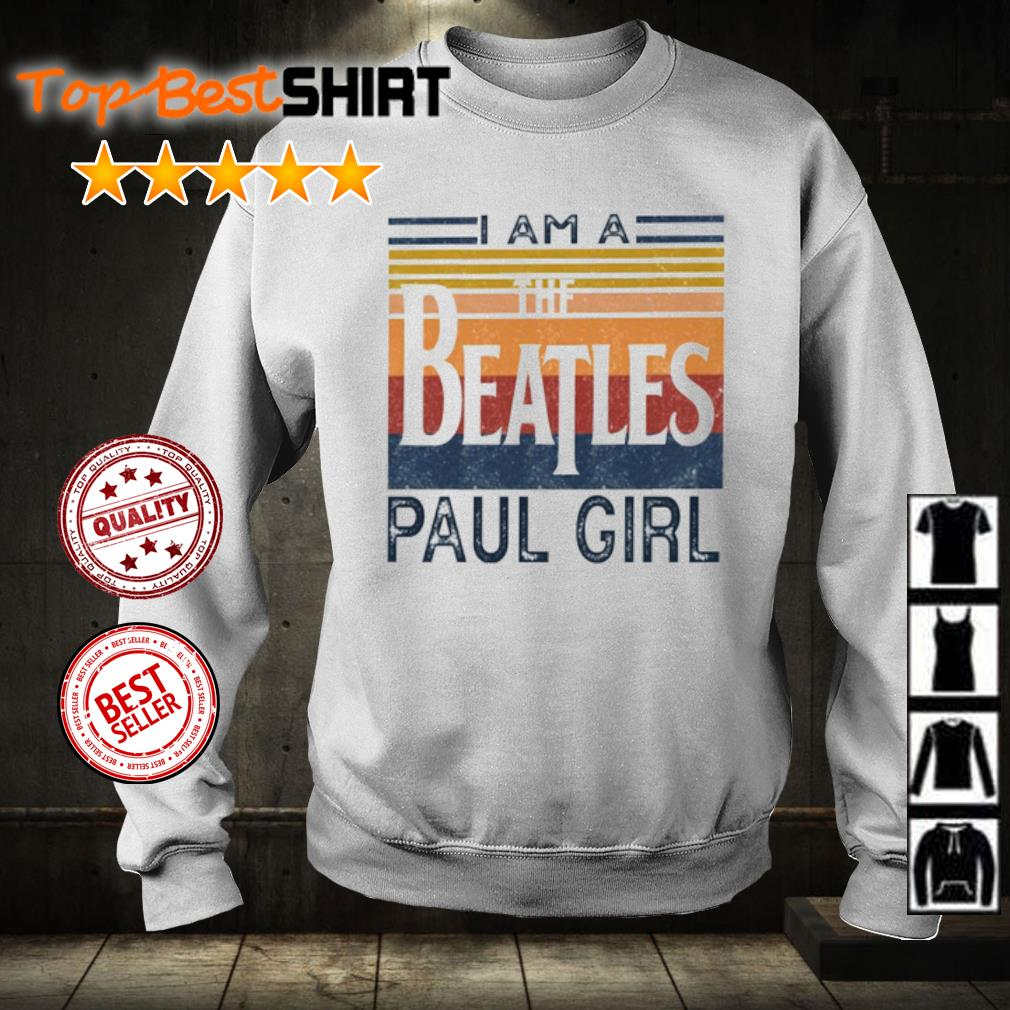 I am a the Beatles paul girl vintage s sweater