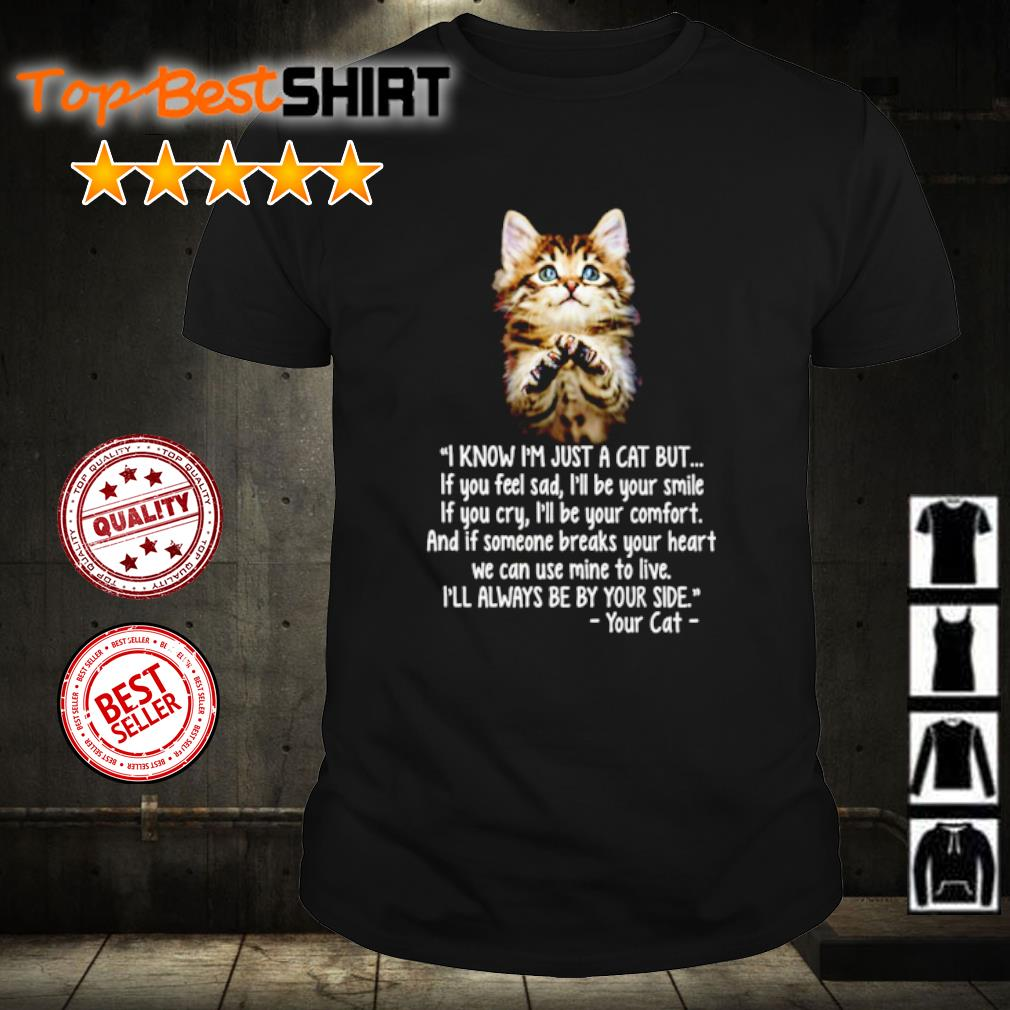 I know I'm just a cat but if you feel sad shirt