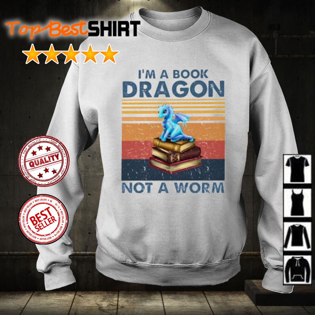 I'm book dragon not a worm vintage s sweater