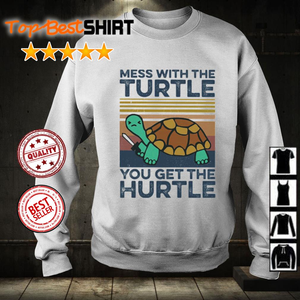 Mess with the turtle you get the hurtle vintage s sweater