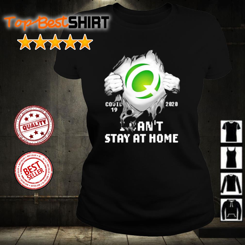 Q Covid-19 2020 I can't stay at home s ladies-tee