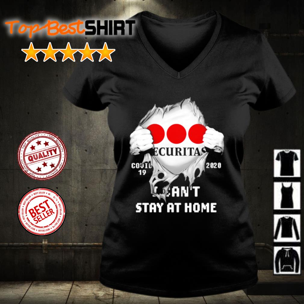 Securitas Covid-19 2020 I can't stay at home s v-neck-t-shirt