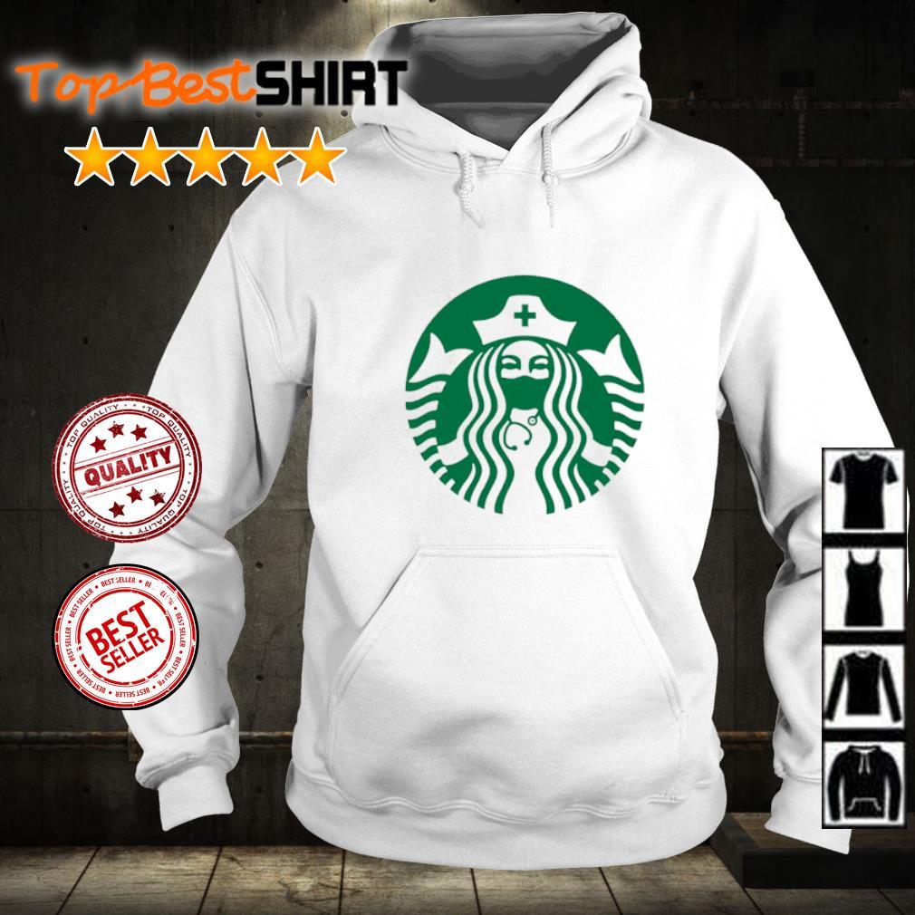 Starbucks nurse wearing mask s hoodie