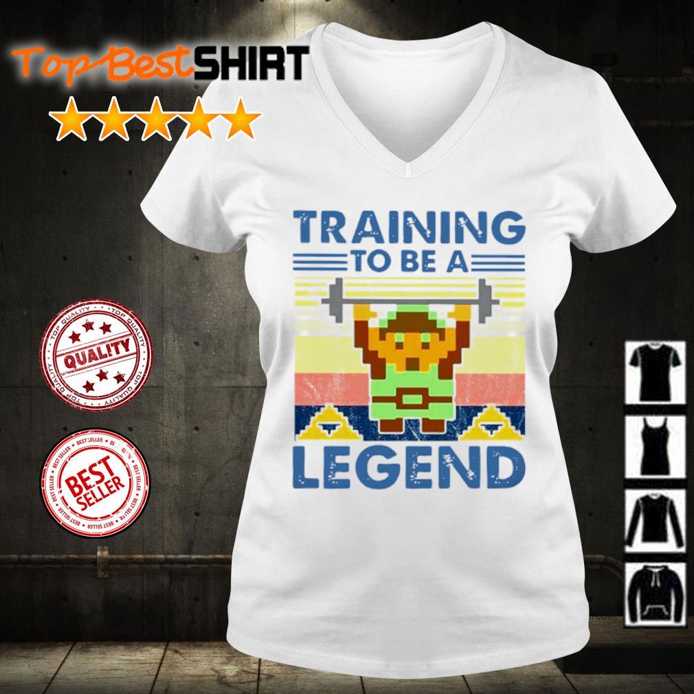 Training To Be A Legend Vintage s v-neck-t-shirt