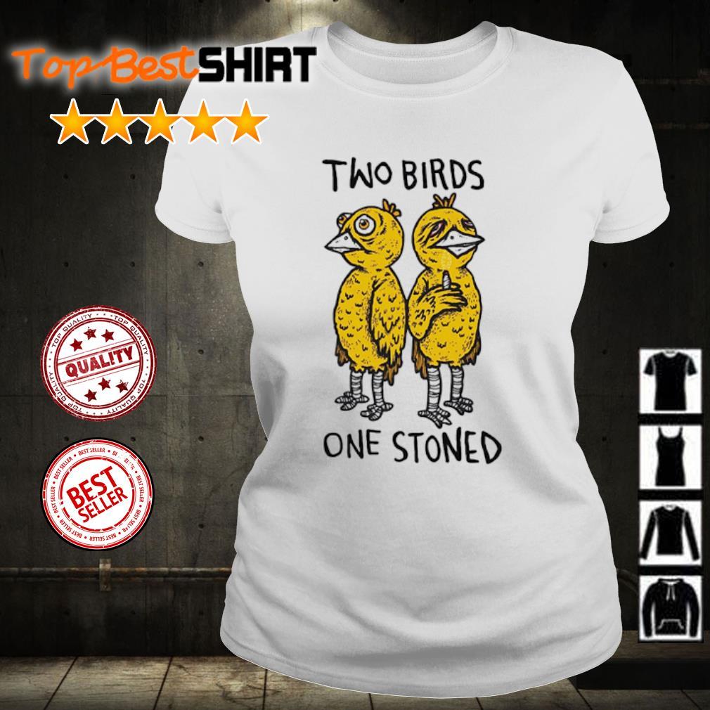 Two birds one stoned s ladies-tee