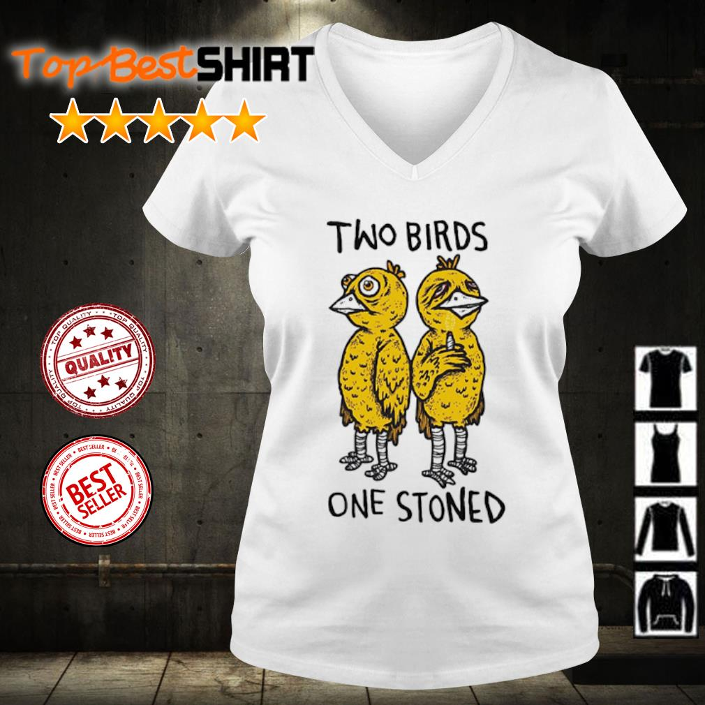 Two birds one stoned s v-neck-t-shirt
