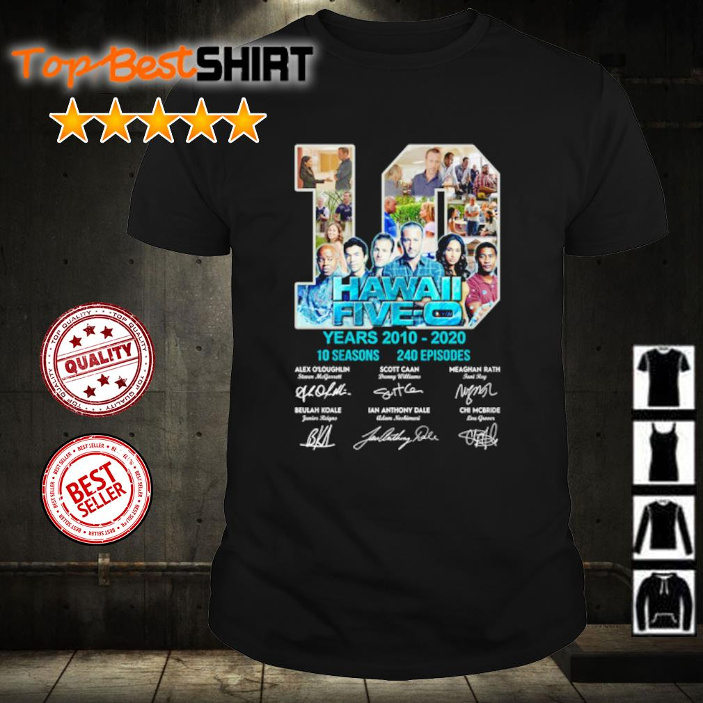 10 Hawaii Five-o years 2010 2020 10 seasons 140 episodes vintage shirt