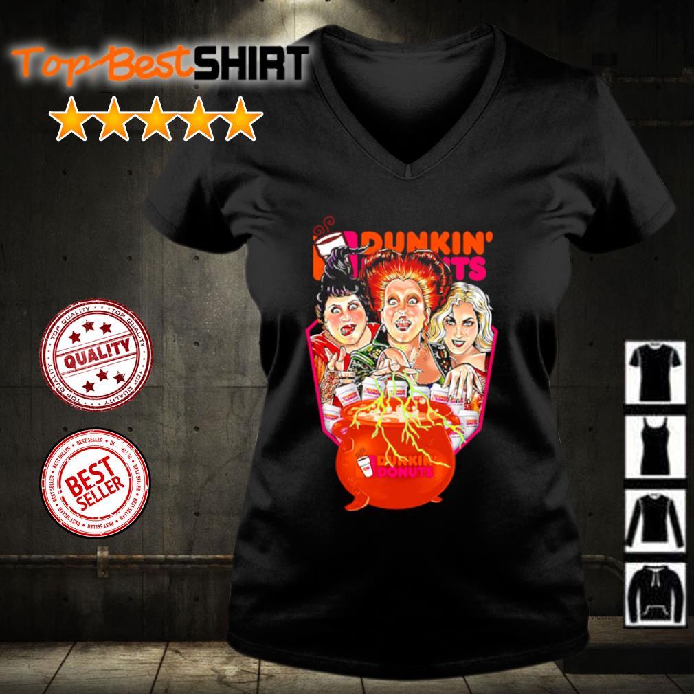 Hocus Pocus Drink Dunkin' Donuts Halloween s v-neck-t-shirt