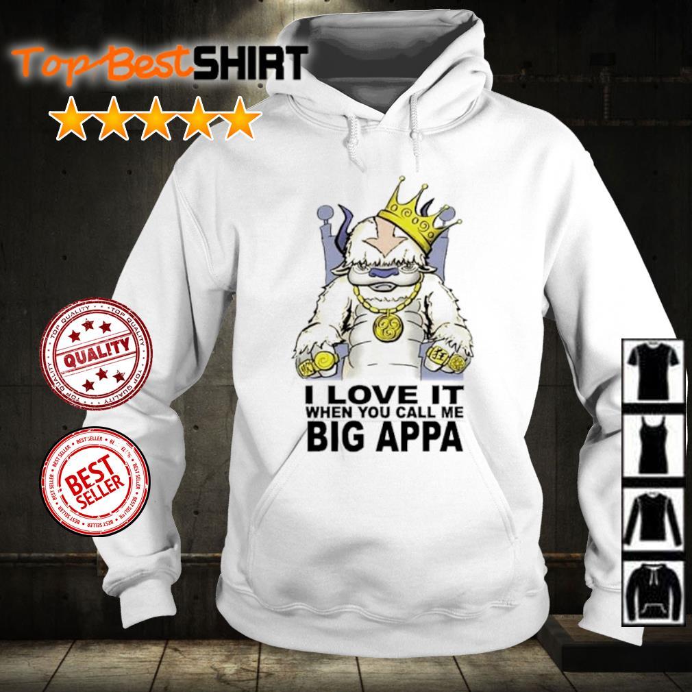 I love it when you call me big appa s hoodie