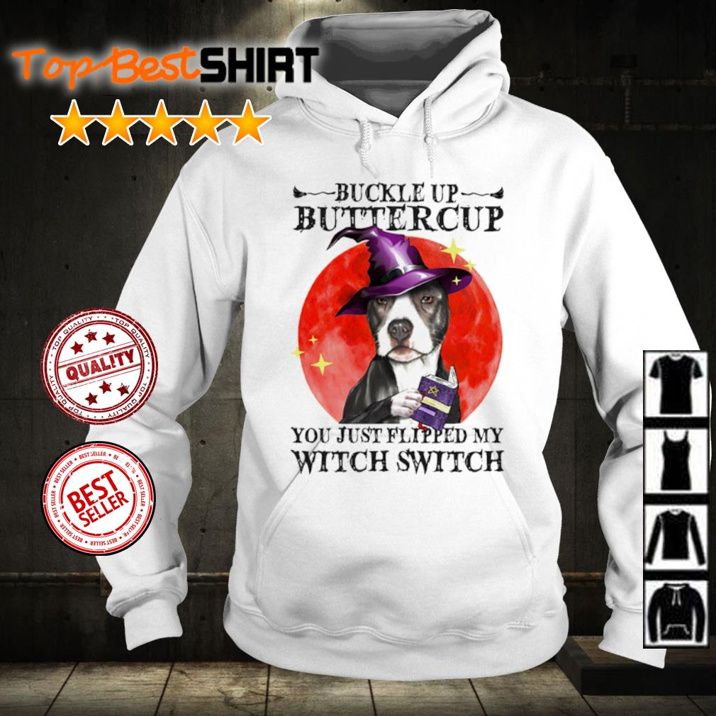 Pitbull Buckle Up Buttercup you just flipped my witch switch s hoodie