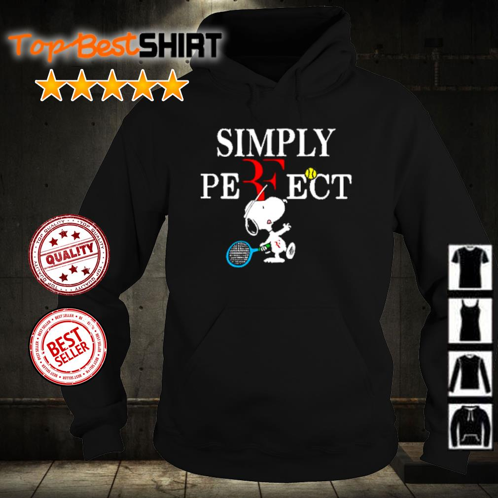 Roger Federer Snoopy simply perfect s hoodie