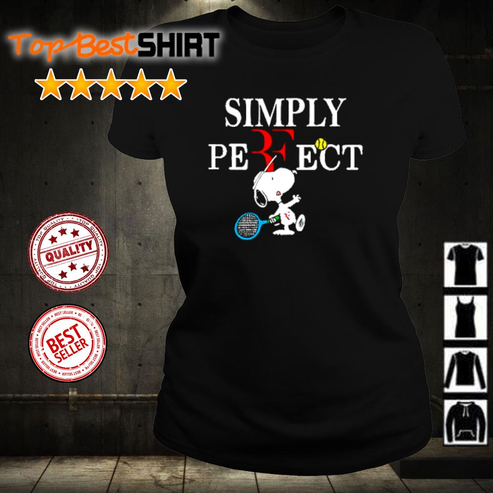 Roger Federer Snoopy simply perfect s ladies-tee