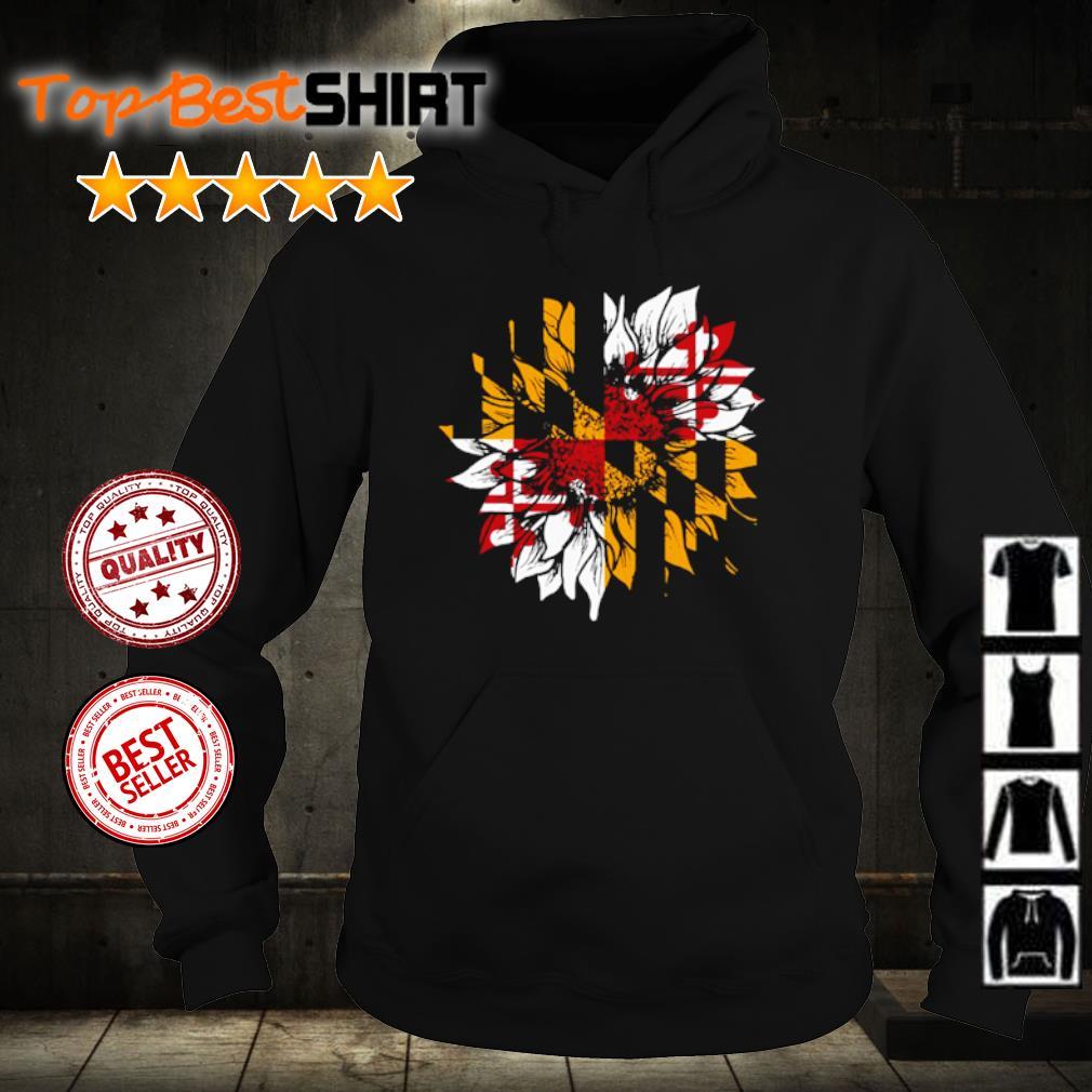 Sunflower Maryland flag s hoodie