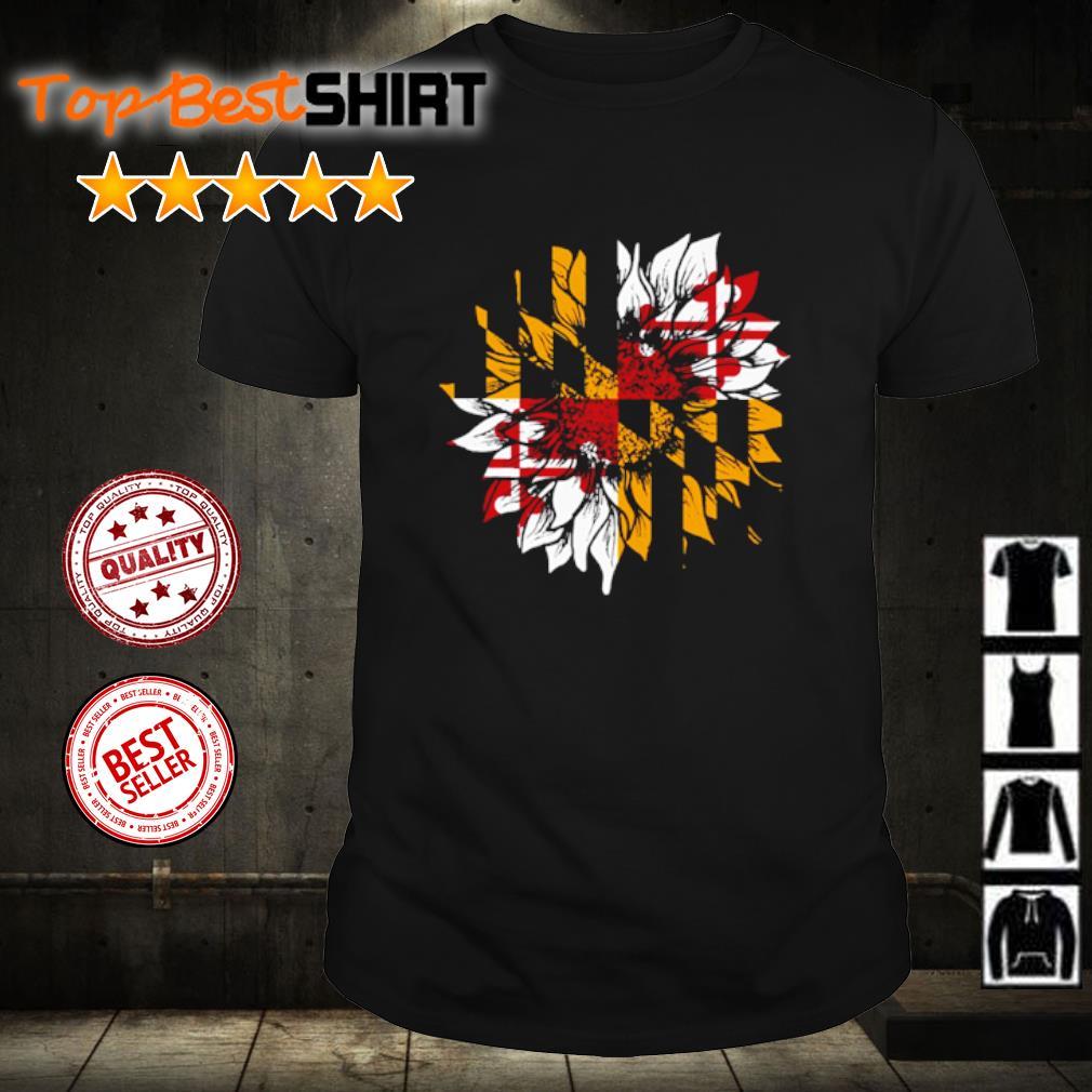 Sunflower Maryland flag shirt