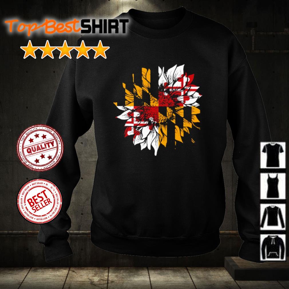Sunflower Maryland flag s sweater