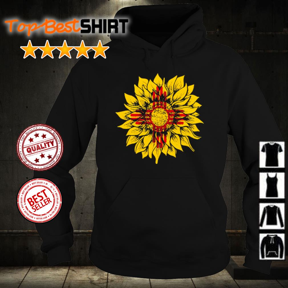 Sunflower New Mexico flag s hoodie