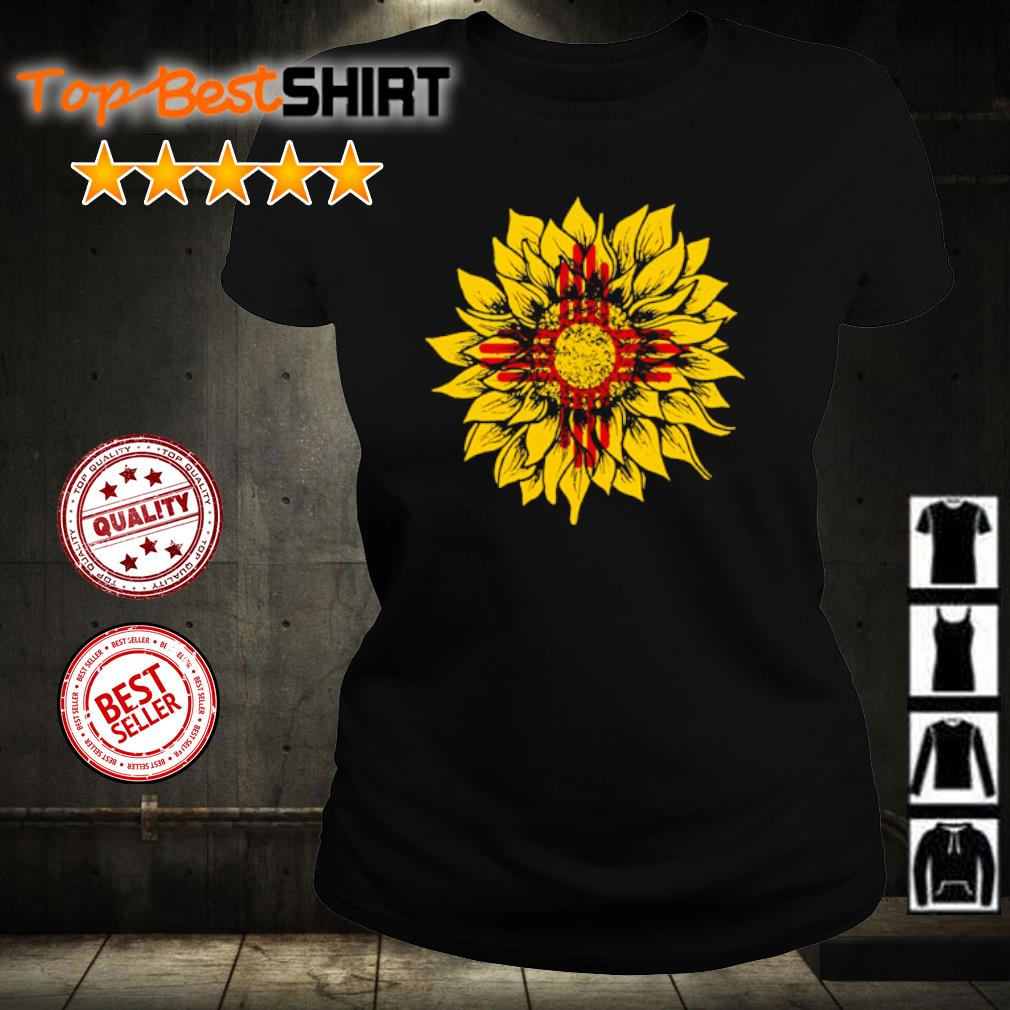 Sunflower New Mexico flag s ladies-tee
