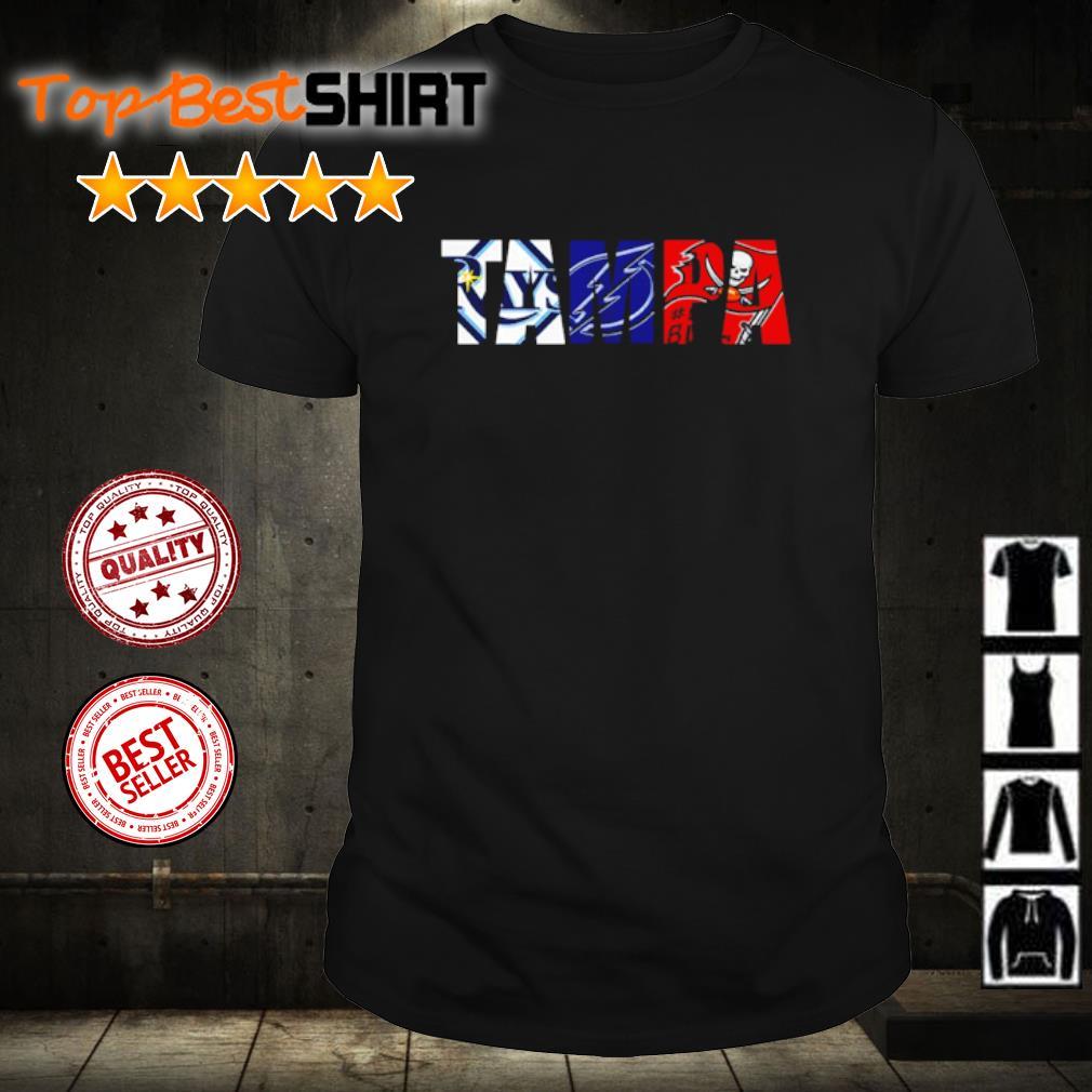 Tampa Bay Rays Tampa Bay Lightning Tampa Bay Buccaneers shirt