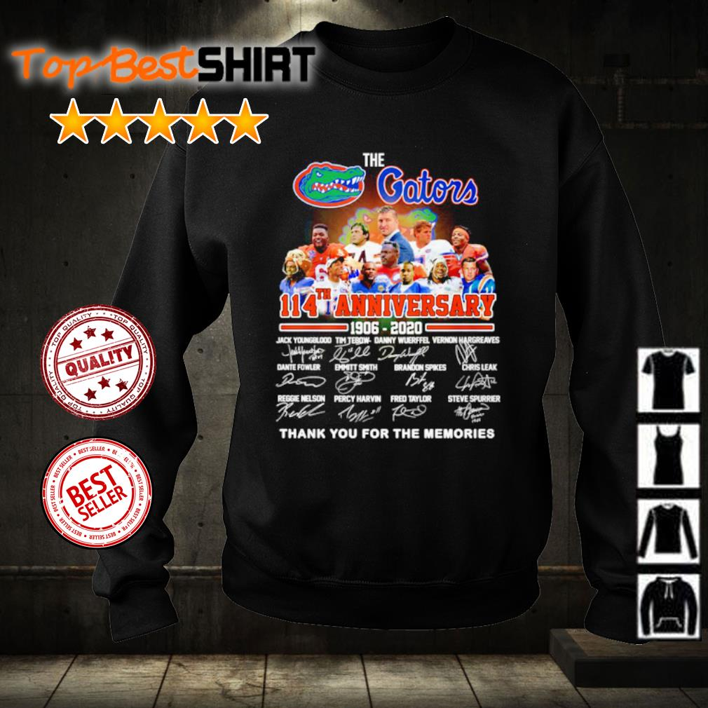 The Florida Gators 114th anniversary 1906 2020 thank you for the memories s sweater