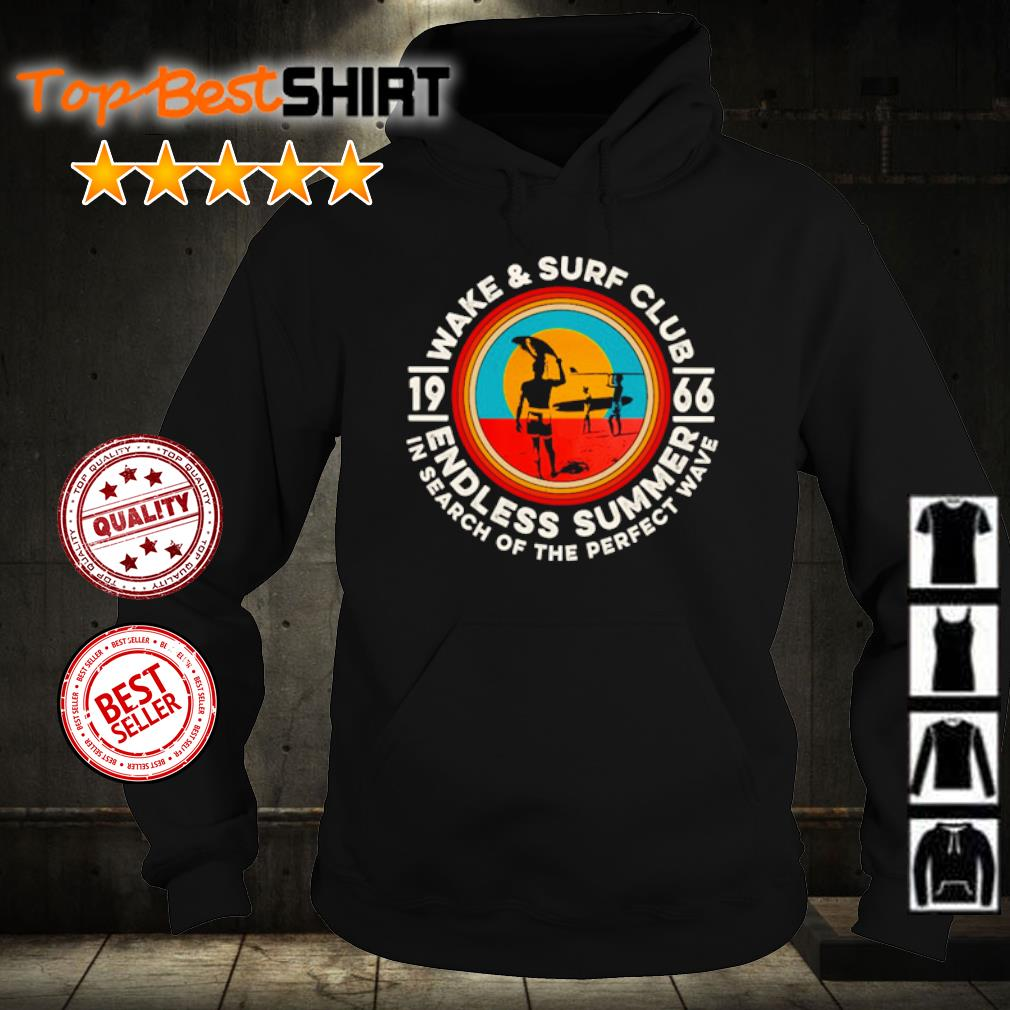 Wake and surf club 1966 endless summer in search of the perfect wave s hoodie