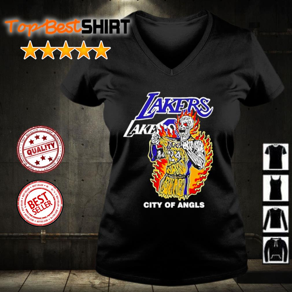 Warren Lotas Lakers City Of Angels Kobe Bryant s v-neck-t-shirt