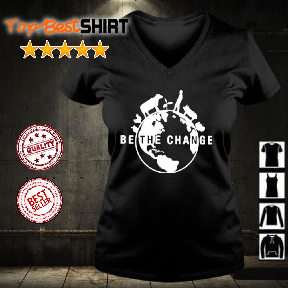 Be the change s v-neck-t-shirt