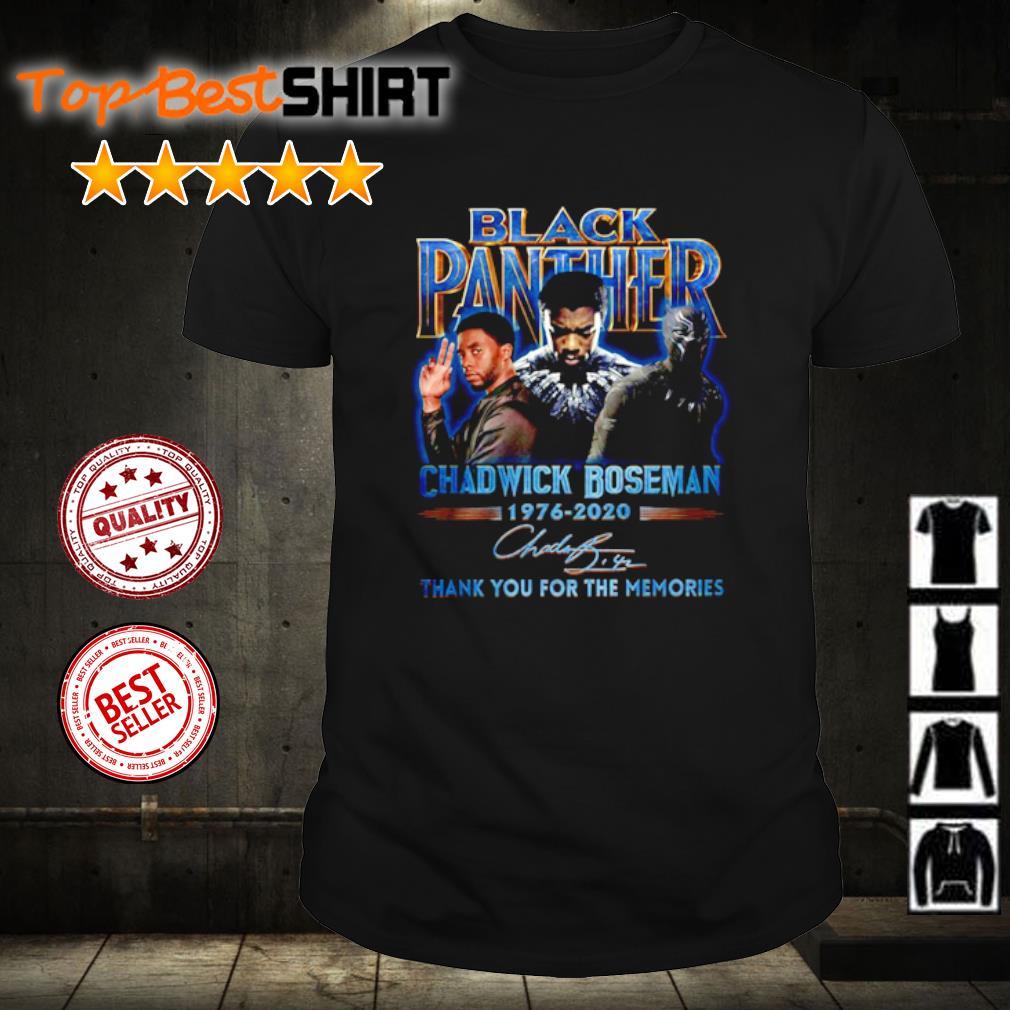 Black Panther Chadwick boseman 1976 2020 thank you for the memories shirt