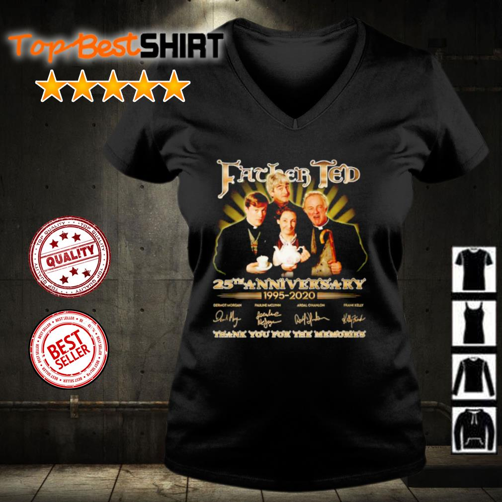 Father Ted 25th anniversary 1995 2020 thank you for the memories s v-neck-t-shirt