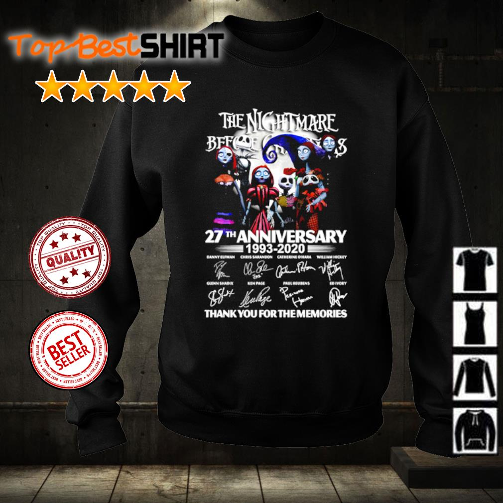 The Nightmare Before Christmas 27th anniversary 1993 2020 thank you for the memories s sweater