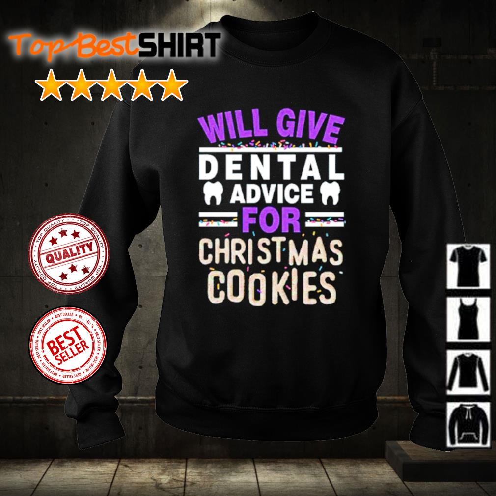 Will give dental advice for Christmas cookies s sweater