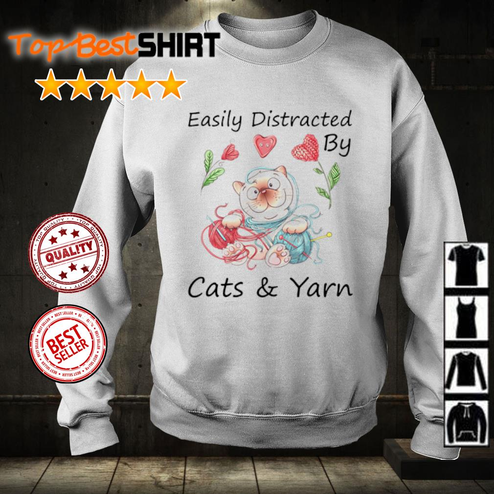 Easily Distracted by cats and yarn s sweater