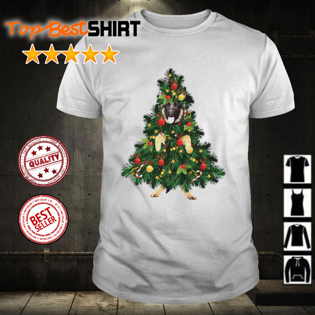 German Shepherd Tree Christmas shirt