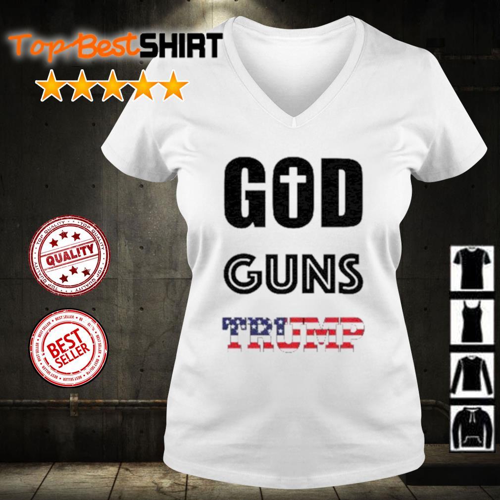 God Guns Trump s v-neck-t-shirt