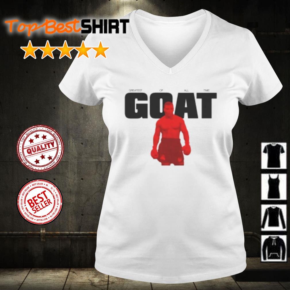 Mike Tyson goat s v-neck-t-shirt