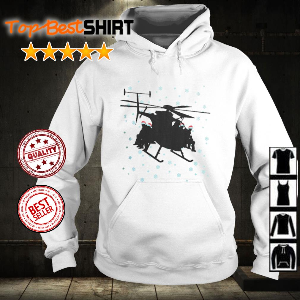Snowboarding sit on Helicopter Christmas s hoodie