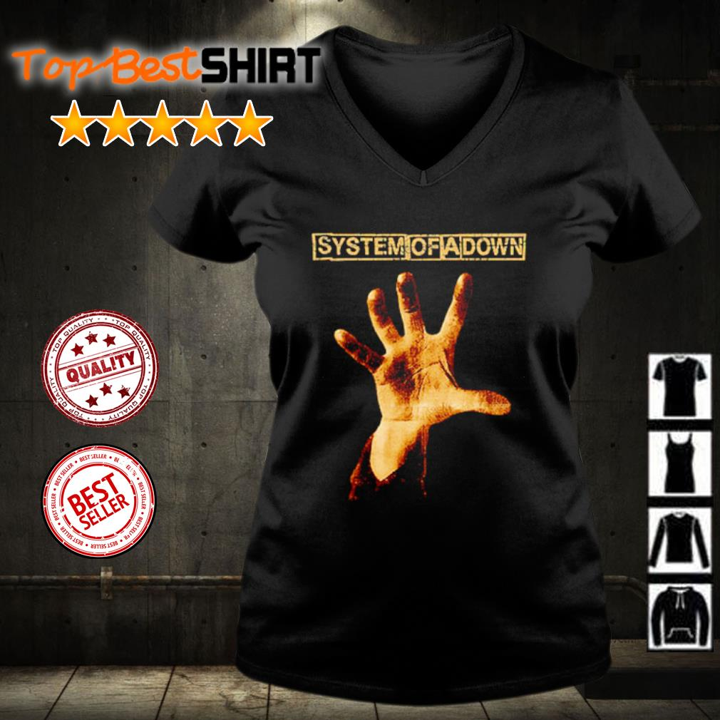System of a down hand s v-neck-t-shirt