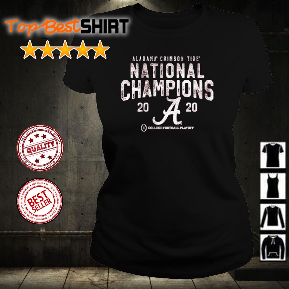 Alabama Crimson Tide National Champions 2020 College football playoff s ladies-tee