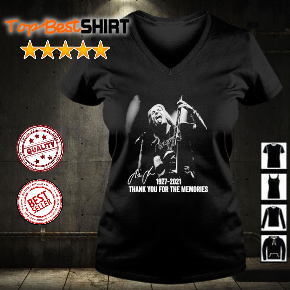Alexi Laiho 1927 2021 thank you for the memories s v-neck-t-shirt