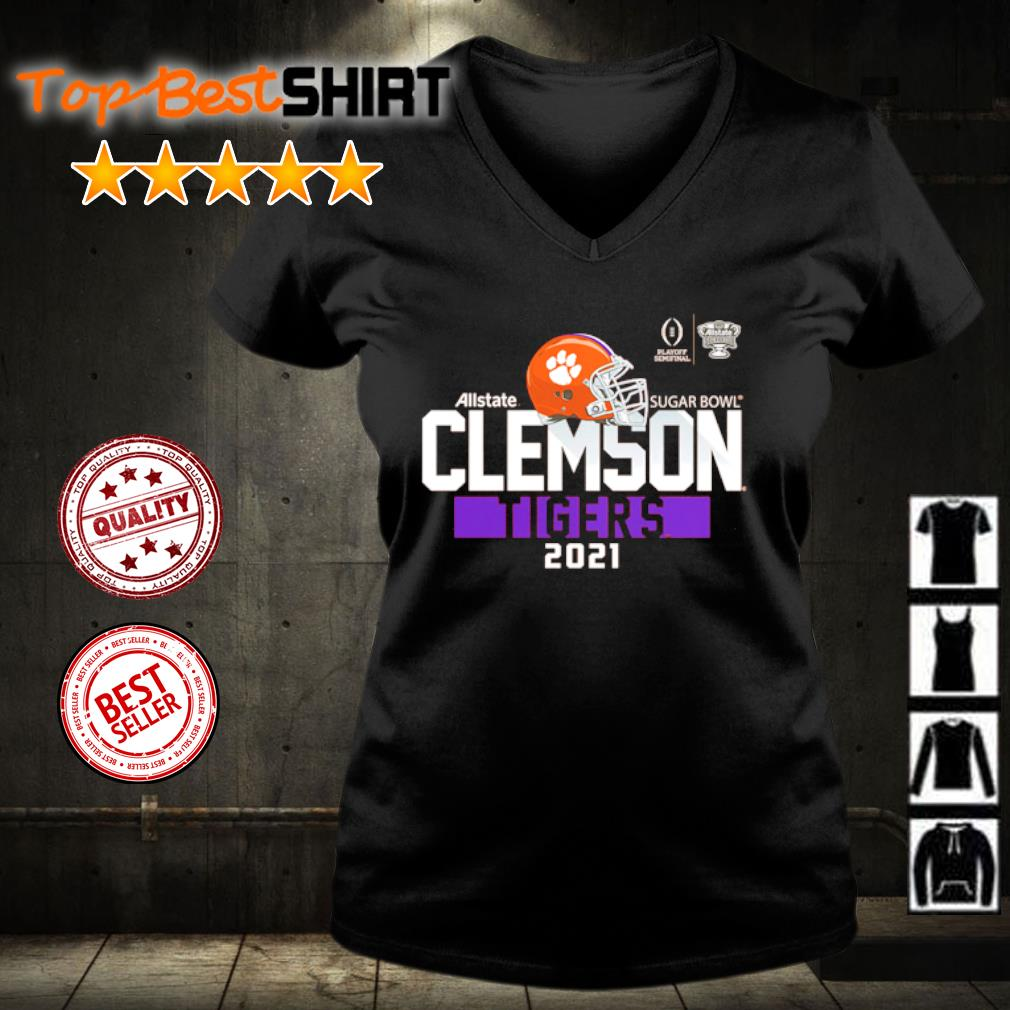 Clemson Tigers College Football Playoff 2021 Sugar Bowl Bound Backfield s v-neck-t-shirt